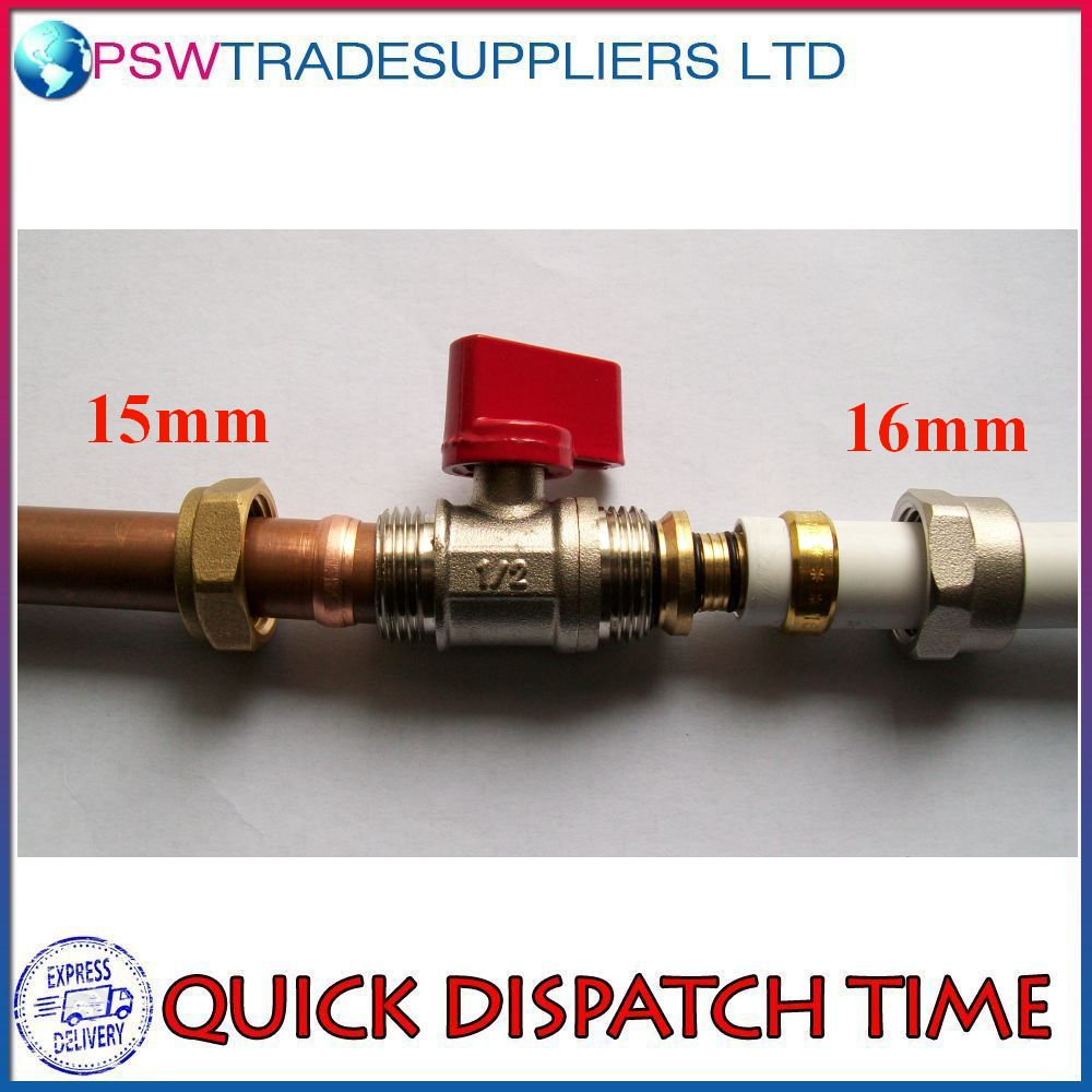 Adapter reducer 15mm 16mm pex al pex ball valve brass for How to connect pex pipe to copper
